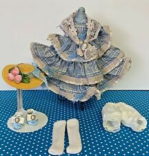 "New Listing8"" Madame Alexander Blue Gold Ma Outfit Tagged Flora McFlimsey w/Hat & Scarf"