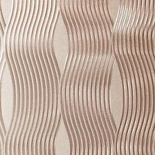 Arthouse Foil Metallic Wave Rose Gold Wallpaper - 294500