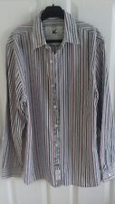 John Rocha shirt blouse striped Small 10 to 12 casual office pink green white