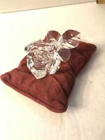 SWAROVSKI Silver Crystal The Rose 7478 NR000001 with Rose Pillow!