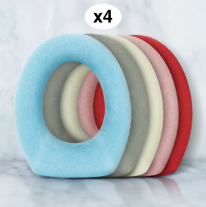 Warm Toilet Seat Covers X 4 Soft Washable Padded Loo Cushion Pink Blue Grey UK
