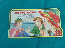 Vintage Sewing Needles Advertising Happy Home