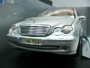 WOW EXTREMELY RARE Mercedes C320 W203 221HP Limo 2001 Silver BNIB 1:18 Welly
