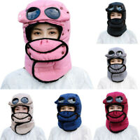Men Women Ski Mask Beanie Cap Knit Face Mask Winter Hunting Ear Warm Workout Hat