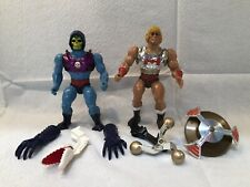 MOTU Lot He-Man Masters of the Universe Terror Claw Flying Fists COMPLETE Clips