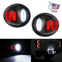 LED License Plate Tag Light Lamp Red White Fits Ford F250 F350 Pickup 1999-2016