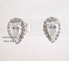 RADIANT TEARDROPS Authentic PANDORA Silver ZIRCONIA Earring Studs 296252CZ NEW!