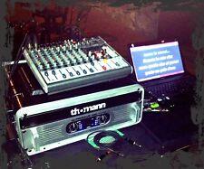 "KIT DJ Amplificatore DAP Palladium P-500 + RACK 19"" 3U + 2 casse 12"" - KARAOKE"