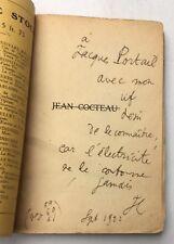 1922 BEL ENVOI dédicace JEAN COCTEAU : LE SECRET PROFESSIONNEL