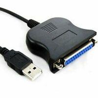 DP-iot Black USB Parallel D-SUB25 pin Conversion Printer Cable