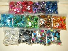 NEW 4/oz EACH 13 Samplers MIXED LOOSE BEADS Multi-Color LOT GLASS & Gemstone