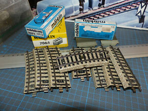 MARKLIN - Rotaie speciali M +set fumo 7226+ Pedane 7192+ scatole vuote