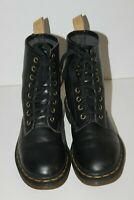 Dr MARTENS Boots à Lacets Cuir Noir T 4 UK / 6 US / 37 FR TBE