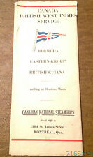 Pre-1942 Canadian National Steamships Cabin Plan RMS Lady Nelson, Hawkins, Drake