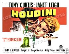 HOUDINI LOBBY CARD POSTER HS 1953 TONY CURTIS as HARRY HOUDINI JANET LEIGH