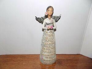 "Kelly Rae Roberts Survivor Figurine 9.25"" Breast Cancer Demdaco 2014"
