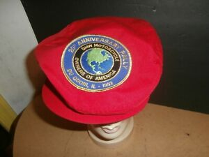Vintage Du Quoin IL 1992 Rally BMW Motorcycles Owners of America Red  Cap