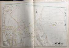 1896 L.J. RICHARDS, MASSACHUSETTS, LAWRENCE HOSPITAL REPRODUCTION PLAT ATLAS MAP