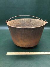 Antique Cast Iron Footed Bean Pot Cauldron Marked #8 K