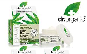 Dr. Organic Bioactive Organic HEMP+ Beeswax Borage Oil 24hr rescue cream 50ml