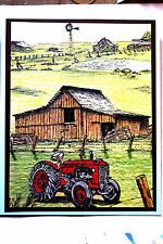 Barbwire & Barn (U get photo # 2)L@@k@examples MAKE AN IMPRESSION RUBBER STAMPS