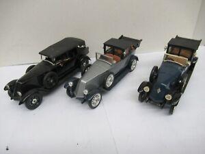 1:43 solido lot x3 renault 40cv-1926-
