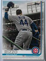 2019 Topps Series 2 Baseball Short Print Variation Anthony Rizzo #596 Chicago