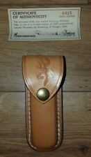 Browning Model 3218F Stag folding Limited Edition 1 of 2,000 3218F Brown Sheath