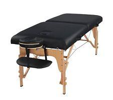 "Heaven Massage Extra Wide 3"" Portable Folding Massage Table Comfort Series/case"