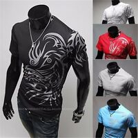 Xtreme Couture Mens O-Neck T-Shirt Dragon Tattoo Biker Motorcycle party M-XXL