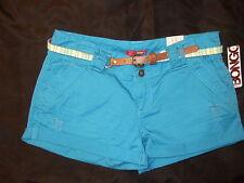 NWT Bongo blue turquoise shorts w/ belt juniors 7