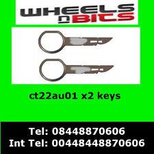 CT22AU01 Audi A2 A3 A4 A6 A8 TT STEREO ENTFERNUNG EXTRAKTION ENTRIEGELN
