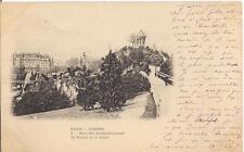 paris  jardins ,parc des buttes chaumont le rocher et la loggia,précurseur