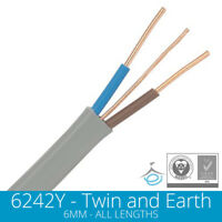 6mm Twin and Earth Electric Cable Wire T&E Electrical Shower Cooker High Power