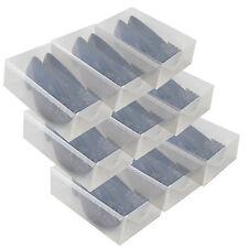 9x Cajas Almacenaje Zapatos PP368T Apilable Plegable Organizador Transparente