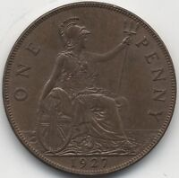 1927 George V One Penny | Pennies2Pounds