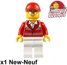 Lego Figurine Minifig ambulancier hopital Paramedic medecin lunette cty0608 NEUF