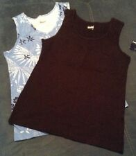 New SCOOP TANK SMALL size women clothes Lot Of 2 Top Shirts Black & Blue