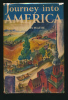Lynd Ward Color Illus.  Journey into America  First Ed. + Jacket 1943  Peattie