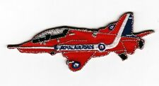 RAF Red Arrows Hawk Iron On/ Sew On Embroidered Patch Badge