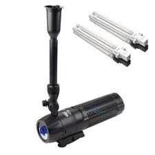 ALL IN ONE POND SYSTEM: 13W UV STERILIZER + PUMP + FOUNTAIN + FILTER+ Extra Bulb