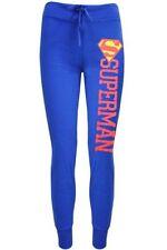 Pantaloni da donna blu in cotone taglia S