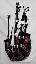 New Great Highland Bagpipes Rosewood Silver Amounts/Scottish Bagpipes with Case