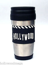 Stainless Steel Travel Mug with Clapboard design - 4025