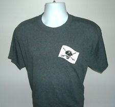 MENS CAPTAIN MORGAN WHITE RUM T SHIRT LARGE SKULL & CROSSBONES LOGO GRAY