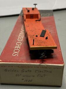 Custom Painted HO Scale & Depressed Center Flat Car