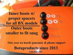 *Kubota BX & GR Poly Inner Outer Tie Rod Boot Upgrade (all models) 1 Yr Warranty