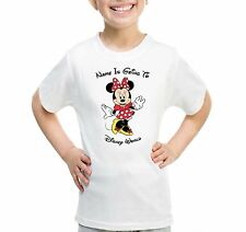 Personalised Red Minnie Mouse Kids T-shirt YOUR NAME IS GOING TO DISNEY WORLD
