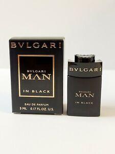 BVLGARI MAN IN BLACK EAU DE PARFUM MINI SPLASH FOR MEN 0.17 Oz / 5ml TRAVEL SIZE