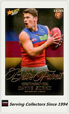 2017 AFL Footy Stars Trading Card Best & Fairest BF2 Dayne Zorko (Brisbane)